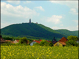 Landschaft in der Region Kyffhäuser