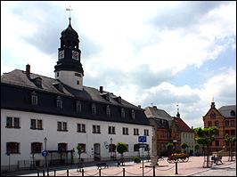 Marktplatz in Auma