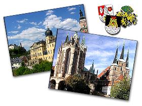 Greiz und Erfurt in Thüringen