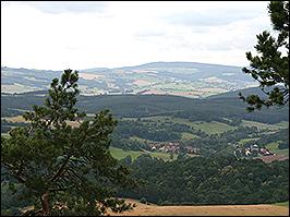 Ausblick auf den östlichen Thüringer Wald