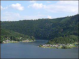 Hohenwartestausee im Thüringer Meer