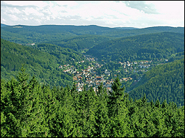 Blick auf Ruhla Thüringen