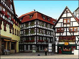 Altstadt von Schmalkalden mit Fachwerkhäusern