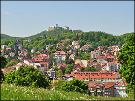 Blick auf die Wartburg in Eisenach Thüringen