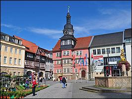 Eisenach Marktplatz mit Rathaus Thüringen