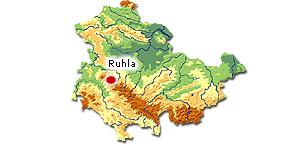 Karte Ruhla