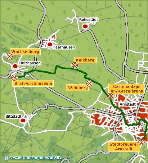 Wanderkarte Arnstadt Holzhausen