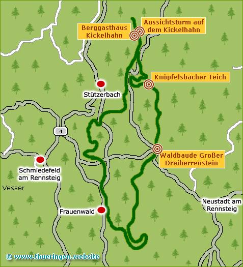 Auf Goethes Spuren von Frauenwald durch den Thüringer Wald