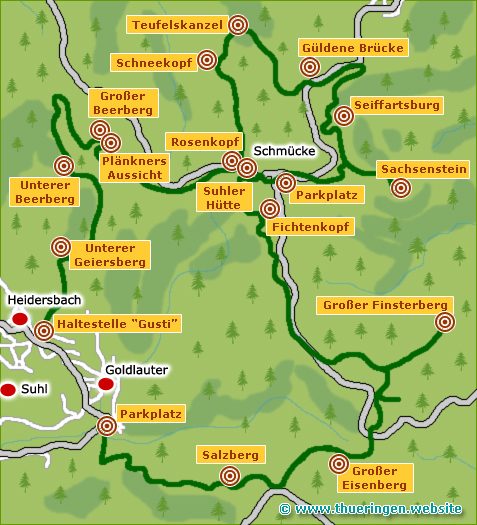 Gipfelwanderweg im Thüringer Wald