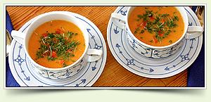 Kokos-Ingwer-Karottensuppe