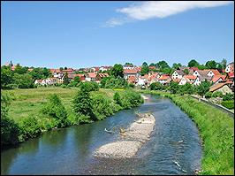 Werra in Breitungen Thüringen